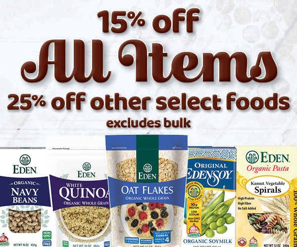 15% off All Items - Excludes Bulk