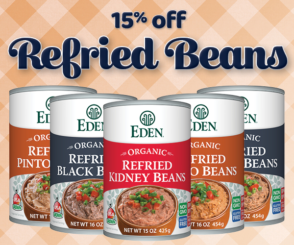 15% off Refried Beans