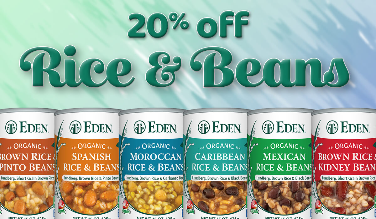 20% off Rice and Beans