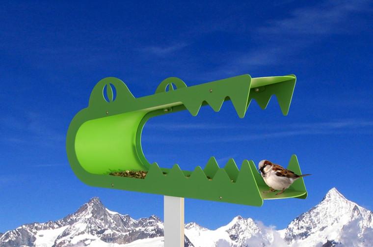 Piep Show Safari Bird House green Alligator