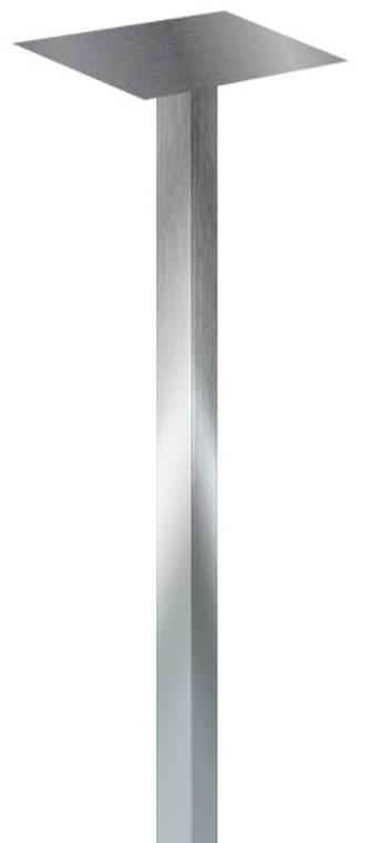 Stainless steel mailbox post