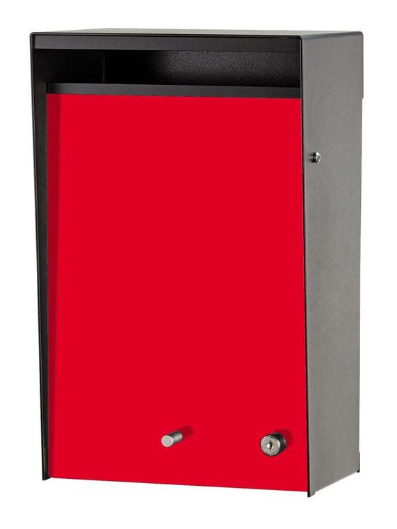 Red Door modern wall mount mailbox