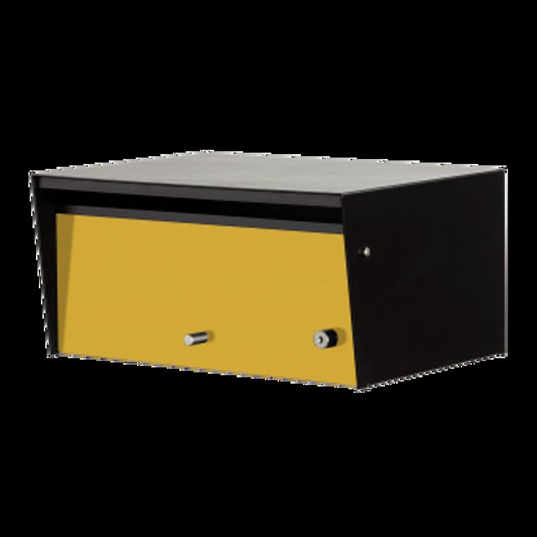 Yellow Door - Metro Front Opening Black Modern Mailbox