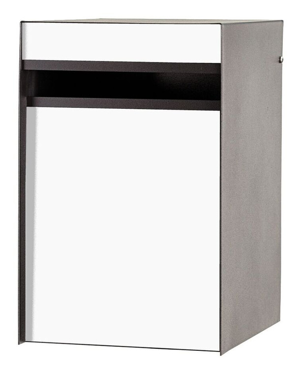 White Front - Back Opening Designer Modern Mailbox