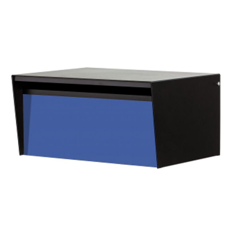 Blue Front - Modern Back Opening Metro Mailbox