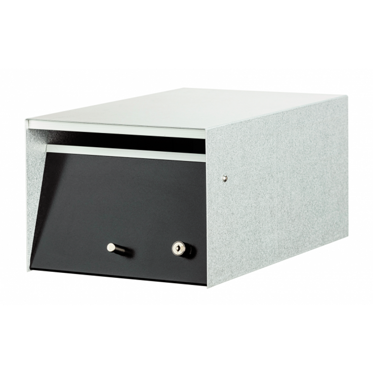 Black Urban Front Opening Stainless Steel Modern Mailbox