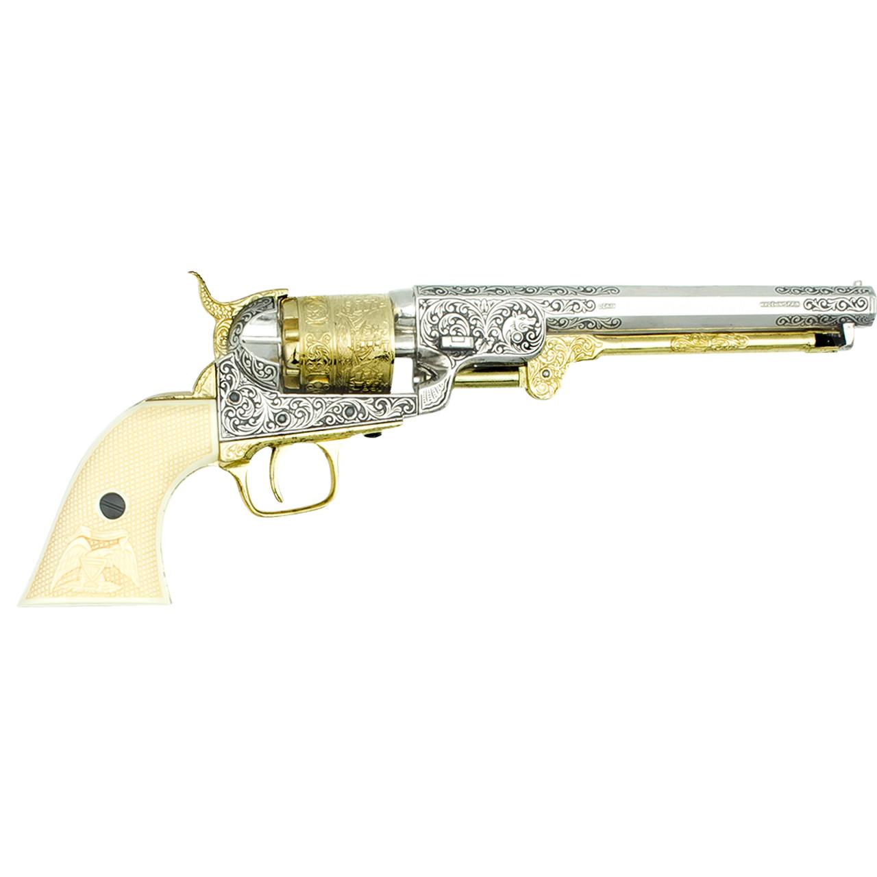 Nickel Denix CA Classic M1851 Navy Revolver