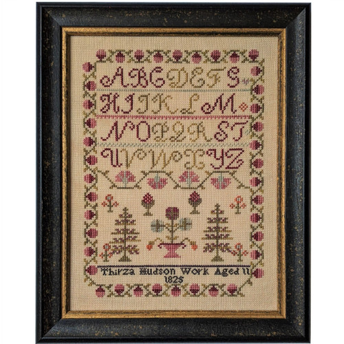 Thirza Hudson 1825  - Reproduction Cross Stitch Sampler Pattern
