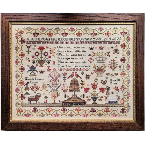 Matilda Isabella Creasy 1852 - Reproduction Cross Stitch Sampler Pattern (PDF)