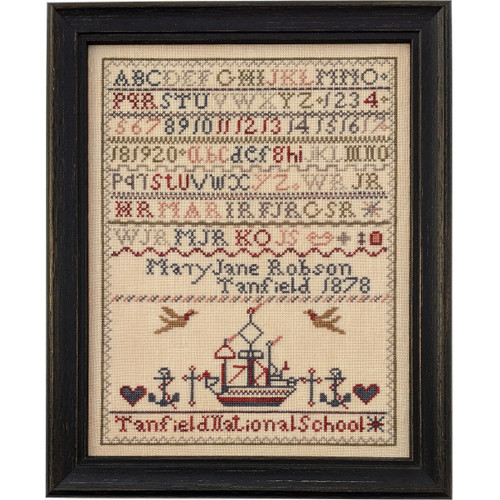 Mary Jane Robson 1878  - Reproduction Cross Stitch Sampler Pattern