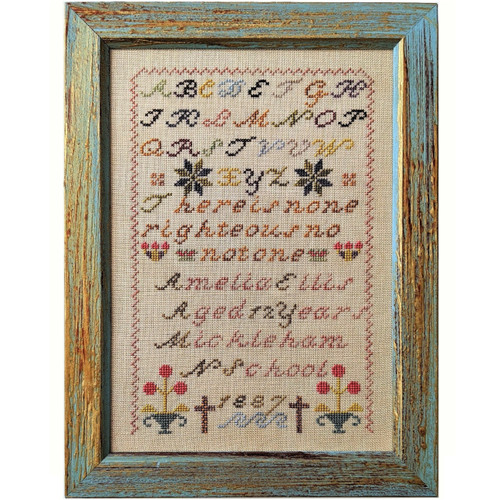 Amelia Ellis 1887  - Reproduction Cross Stitch Sampler Pattern