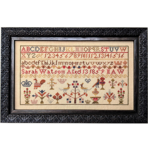 Sarah Watson 1859  - Reproduction Cross Stitch Sampler Pattern