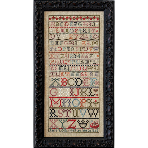 Anne Logan 1840 - Reproduction Cross Stitch Sampler Pattern