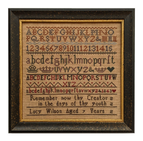 Lucy Wilson 1843 - Reproduction Cross Stitch Sampler Pattern