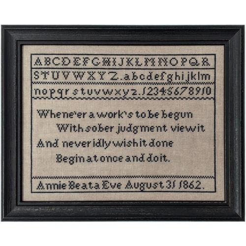 Annie Beata Eve 1862 - Reproduction Cross Stitch Sampler Pattern (PDF)