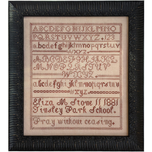 Eliza M Stone 1881 Cross Stitch Sampler Pattern (PDF)