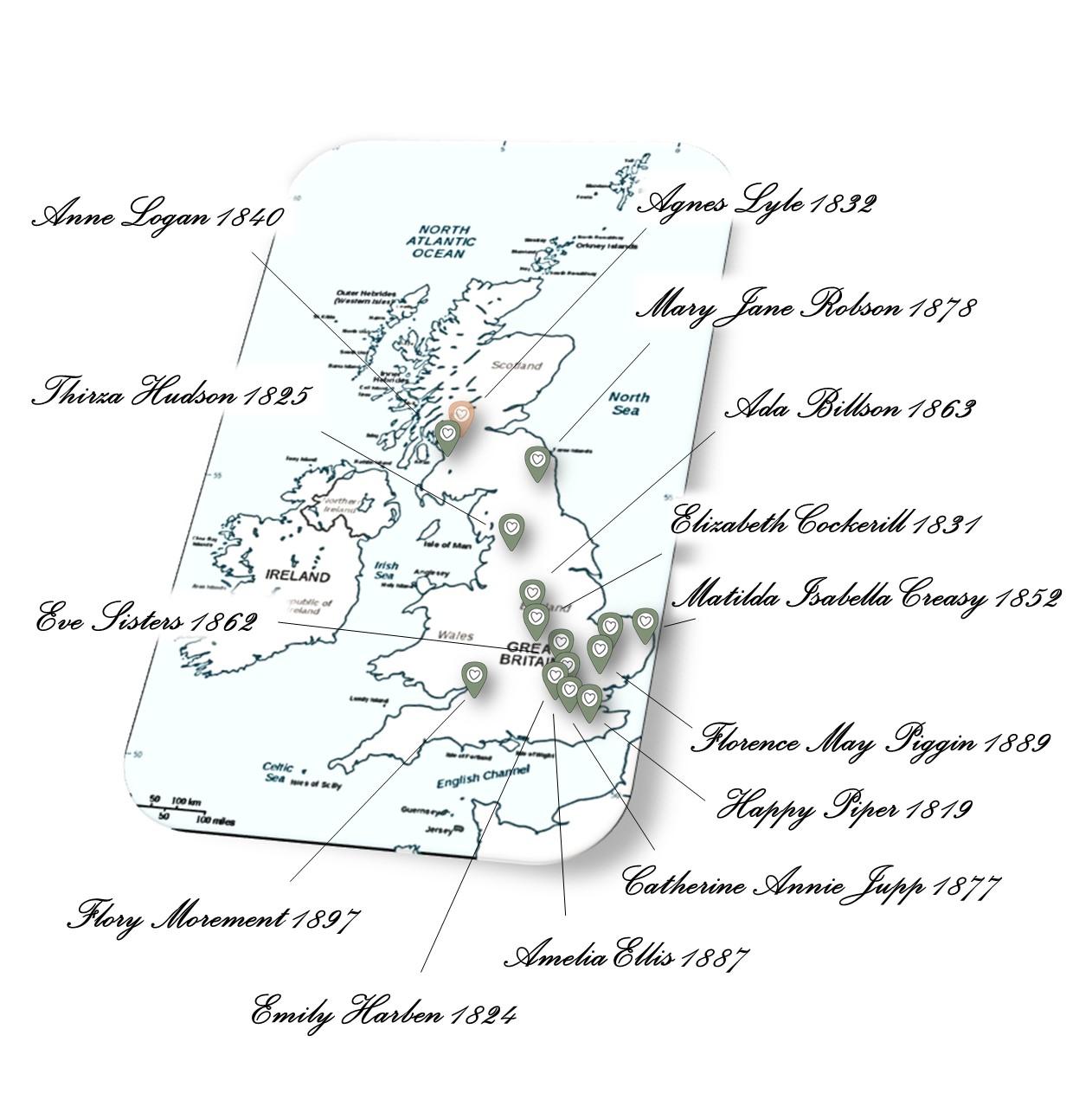 Original Sampler Stitcher Locations UK