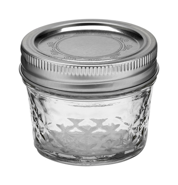 Ball Jar 4 oz Quilted Crystal