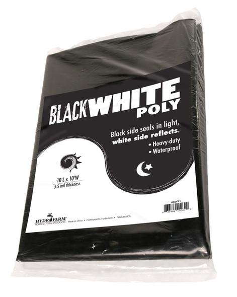 Black White Poly 10' x 25' 5.5 mil