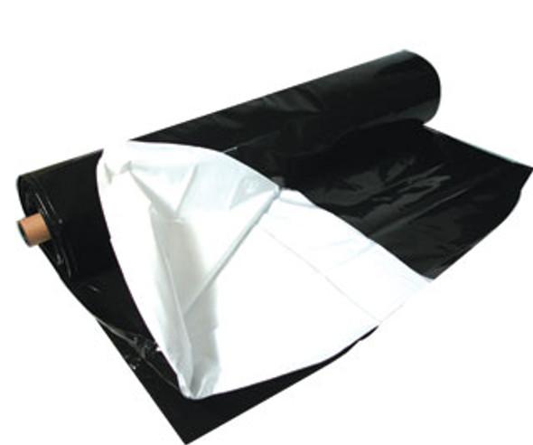 Black White Poly 100' x 10' 5.5 mil