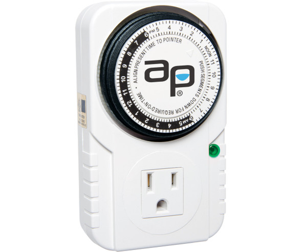 Autopilot Analog Grounded Timer 1725W 15a 15 Minute On/Off 24 Hour
