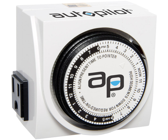 Autopilot Dual-Outlet Analog Grounded Timer 1725W 15A 15-Minute On/Off 24 Hour
