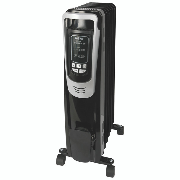 Hurricane Heatwave Whole Room Oil Filled Radiant Heater Digital Display