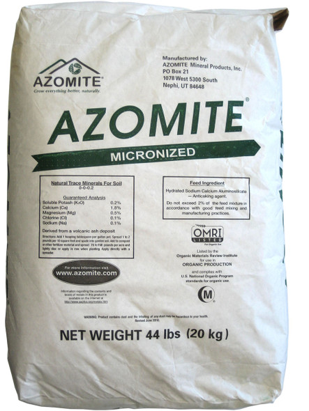 Azomite Micronized Natural Trace Minerals 44 lbs