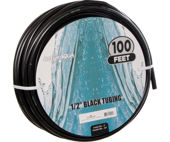"""Active Aqua 1/2"""" Black Tubing 100'"""
