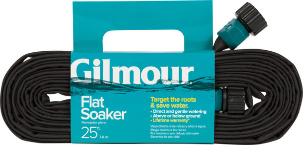 Gilmour Flat Weeper/Soaker Hose in Shelf Display Black 25FT