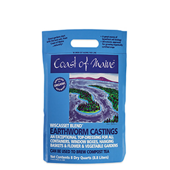 Coast of Maine Earthworm Castings Wiscasset 8qt