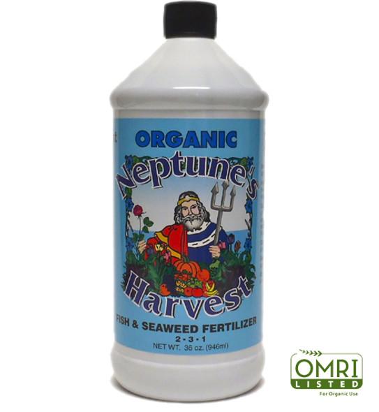 Neptunes Harvest Fish & Seaweed Fertilizer (Blue) - 1 QT