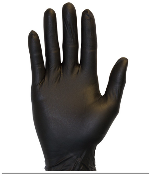 Nitrile Glove - Large Safety Zone - 4 MIL - BLACK  - Box of 100