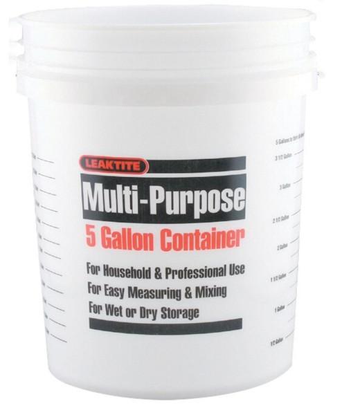 Leaktite Multi Purpose 5 Gallon Container - White