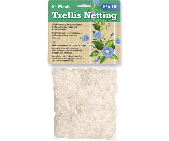 "Trellis Netting 6"" Mesh, woven - 5' x 15'"