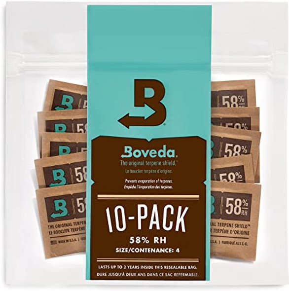 Boveda 4g 2-Way Humidity 58% - 10 Pack