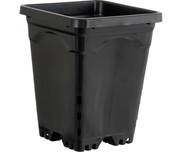 """Active Aqua 6"""" x 6"""" Square Black Pot - 8"""" Tall"""