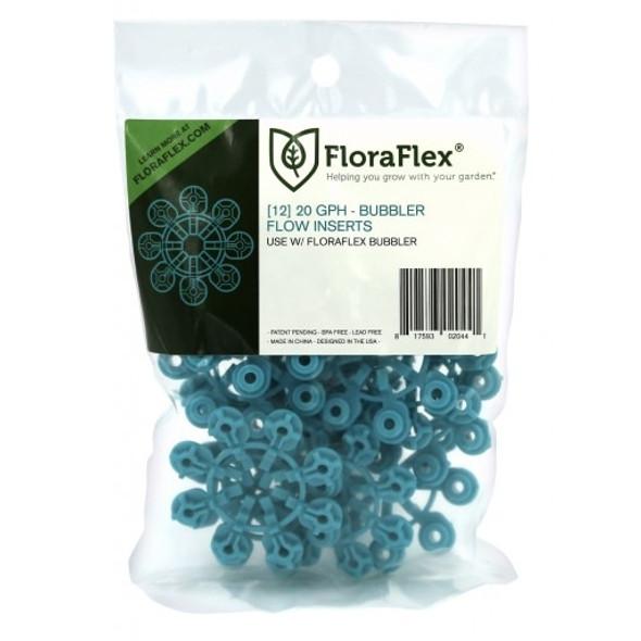 BUBBLER FLOW INSERTS - 12PACK - 20GPH - (BLUE)