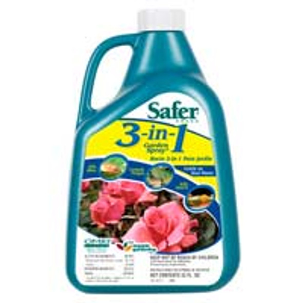 Safer 3-in-1 Garden Spray Concentrate - 1 qt
