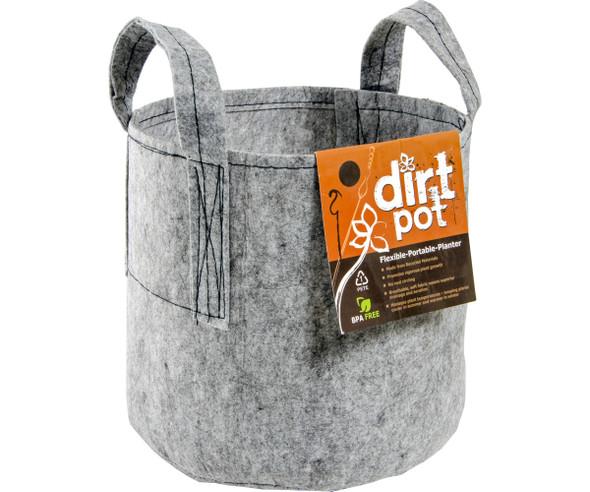 Dirt Pot Grey W/Handles 25 GAL
