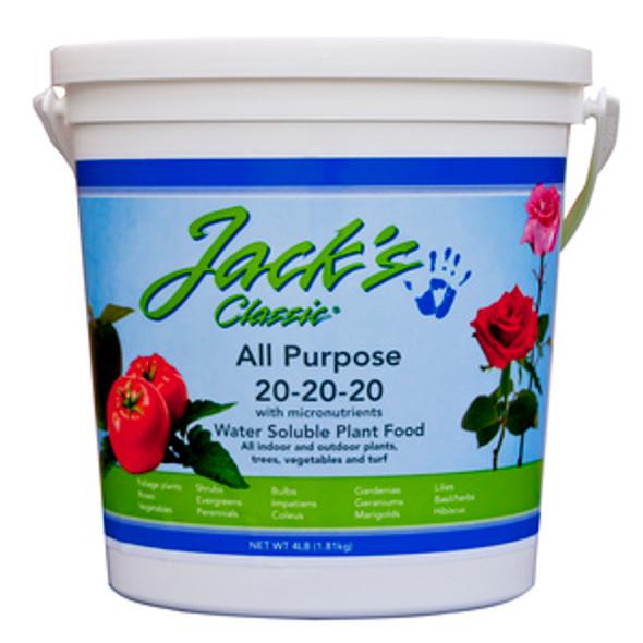 Jack's Classic All Purpose 20-20-20 Fertilizer 4 LB
