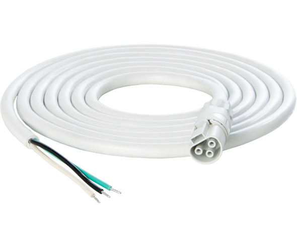PHOTOBIO X White Cable Harness - 16AWG w/leads - 10'