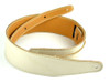 "2.5"" Bone White Leather Guitar Strap"