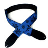 Blue Legalize Slider Style Guitar Strap w/Black Nylon Backing
