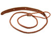 Brown Braided Leather Mandolin Strap