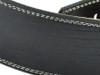 "2.5"" Black Iguana Leather Guitar 9trap w/ Creme Stitch"