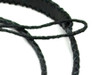 Black Braided Leather Mandolin Strap