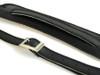 50's Vintage Style Black Velvet  leather guitar strap w/ Black Stitch