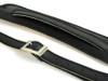 50's Vintage Style Black Velvet  leather guitar strap w/ Black Stitch