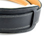 """2.5"""" Black Velvet Leather Guitar Strap with Sheep's Wool"""
